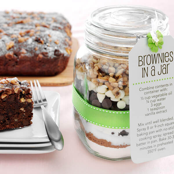 Walnut Brownies in a Jar