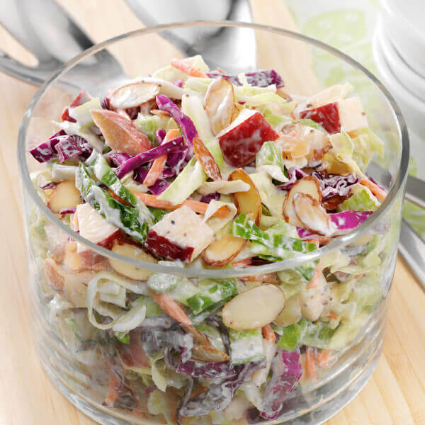 Cabbage, Apple & Almond Slaw
