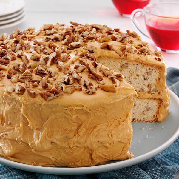Caramel Kissed Butter Pecan Layer Cake