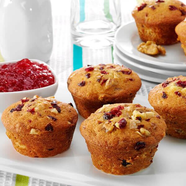 Cranberry-Orange Walnut Muffins