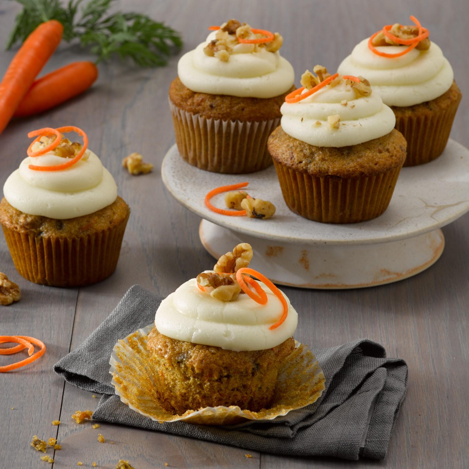 Gluten Free Walnut Carrot Cupcakes