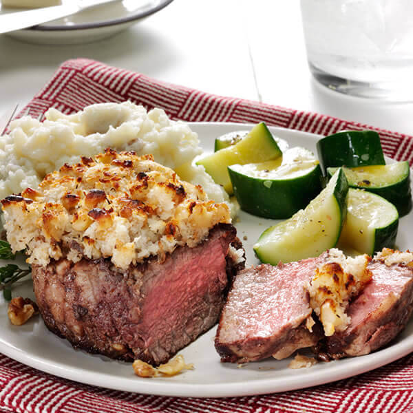 Horseradish Walnut Crusted Filet