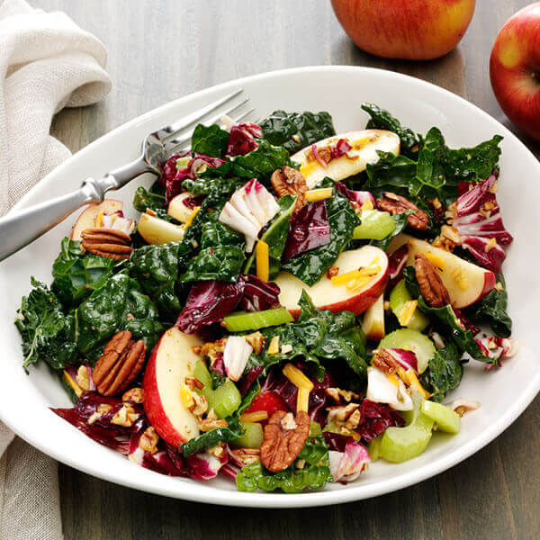 Kale, Apple and Pecan Salad