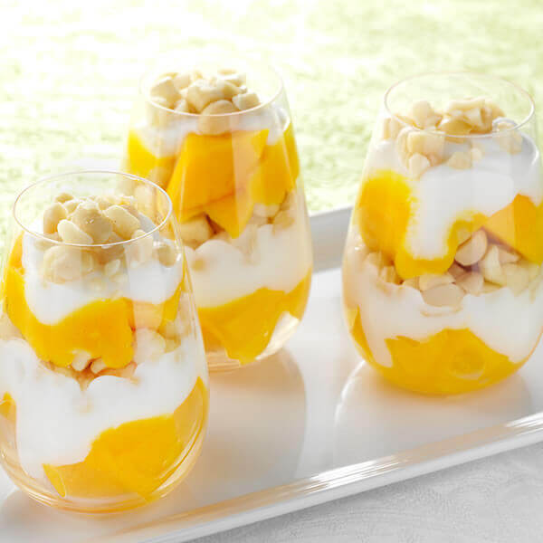 Mango and Macadamia Yogurt Parfaits