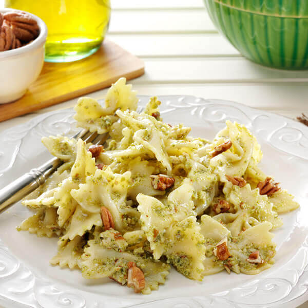 Poblano Pecan Pesto with Pasta