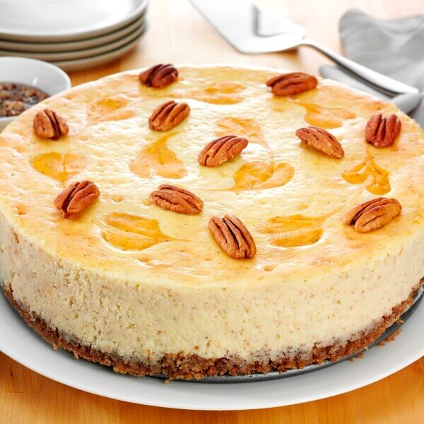 Pecan Pumpkin Swirl Cheesecake
