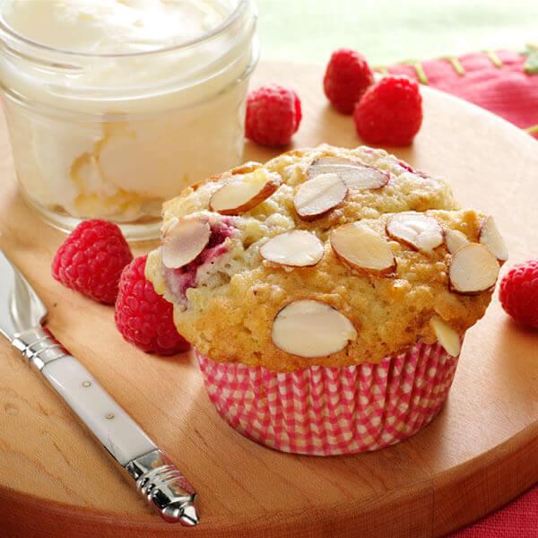 Raspberry Almond Quinoa Muffins