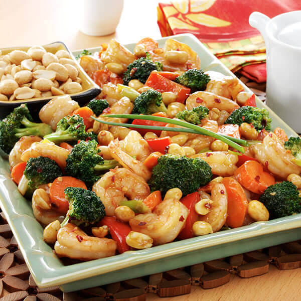Shrimp Stir-Fry With Peanuts