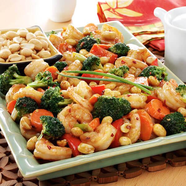 Shrimp Stir-Fry With Peanuts