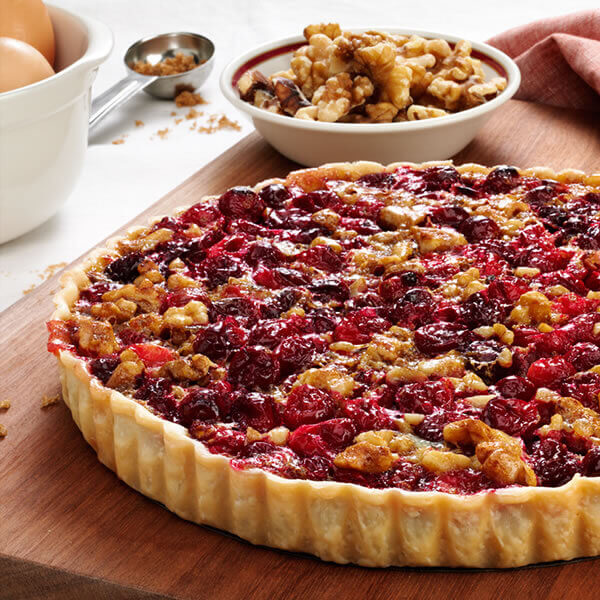 Spiced Cranberry Walnut Tart