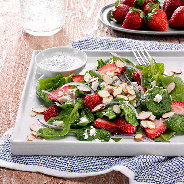 Almond, Strawberry & Spinach Salad