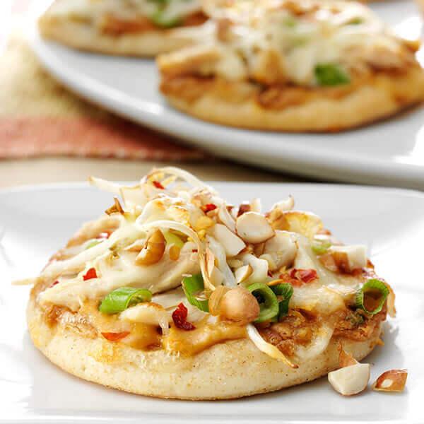 Thai Chicken Mini Pizzas