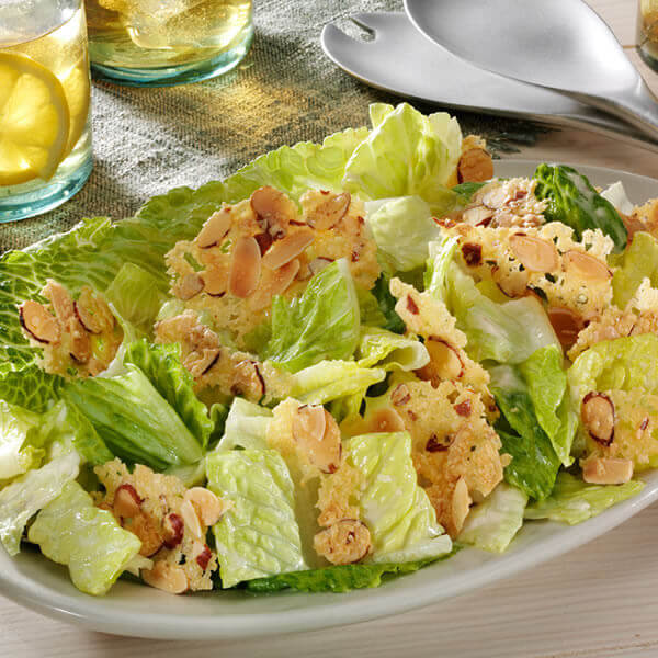 Toasted Almond Caesar Salad