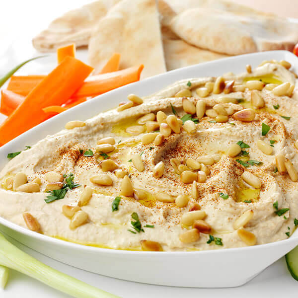 Toasted Pine Nut & Garlic Hummus