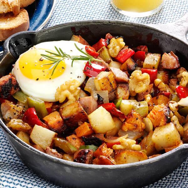 Two Potato Walnut Hash