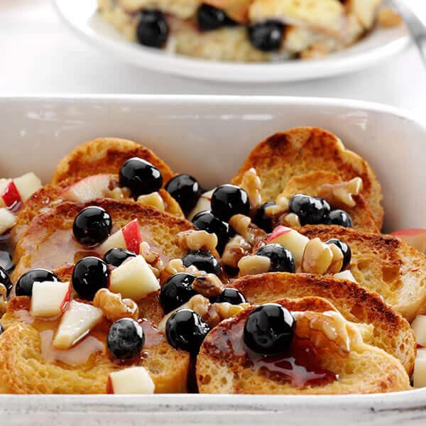 Walnut & Blueberry French Toast Bake