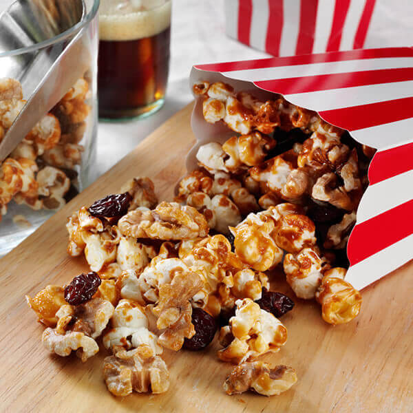 Walnut Cherry Caramel Corn