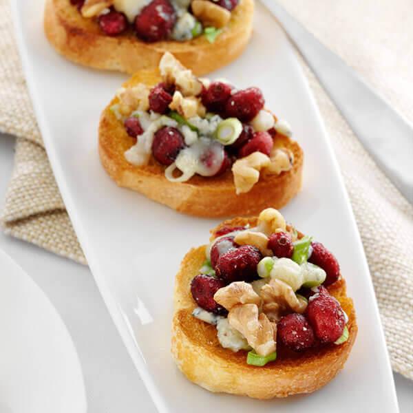 Walnut Cranberry Crostini