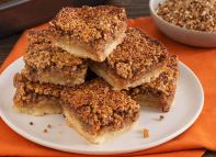 Whiskey Pecan Pie Bars