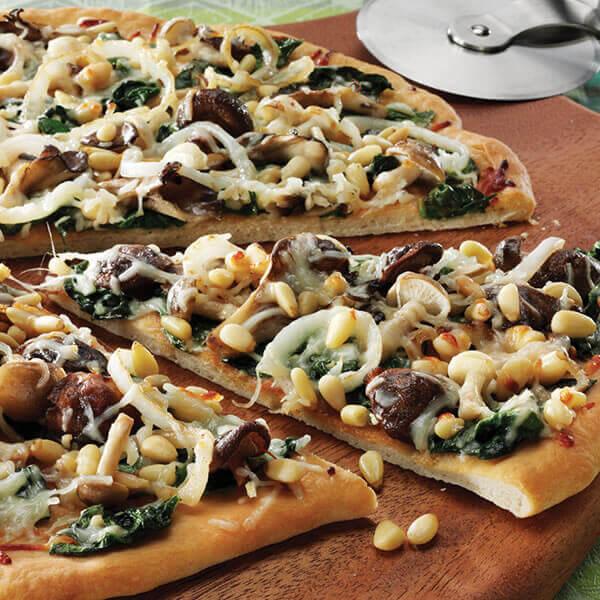 Wild Mushroom & Spinach Flatbread